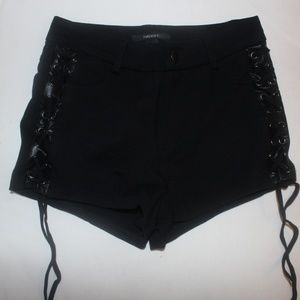Forever 21 High Rise Black Shorts